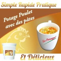 POTAGE POULET AVEC PATES Gobelet Pré-Dosé.